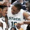 Durrell Summers of Michigan State Posterizes UConn's Stanley Robinson