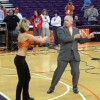 ESPN's Digger Phelps Dances With Clemson Cheerleader