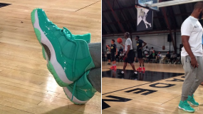 Chris Paul Shows Off 'Emerald' Air Jordan XI (11)