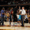 Watch: JR Smith Drains Half-Court Shot For $30,000 to Military Family