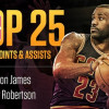 "Lebron James Joins ""Big O"" As Only Players In Top 25 In Both Points and Assists"