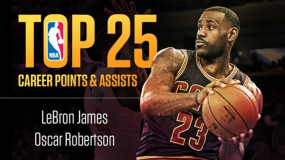 """Lebron James Joins """"Big O"""" As Only Players In Top 25 In Both Points and Assists"""