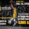 Steph Curry Makes History More Than Once Last Night