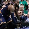LeBron Avoids Taking Down Belichick During Cavs-Celtics Game