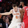 Kristaps Porzingis Left Knicks' Victory Against Heat with Ankle Injury That May Require MRI