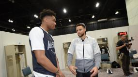 Stephen Curry Calls Giannis Antetokounmpo 'Very Unique'