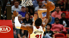Whiteside Has Career Performance Wednesday