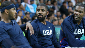 Kyrie Irving and Kevin Durant are Hoping Melo Signs with the Nets