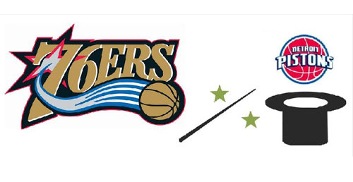 Philadelphia 76ers, Detroit Pistons