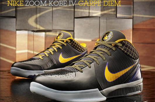 ff68260e0ccf Sneak -a-Peek  Nike Zoom Kobe IV  Carpe Diem