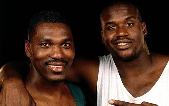 Shaquille O'Neal and Hakeem Olajuwon