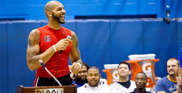 Carlos Boozer Gatorade Replay Pep Rally
