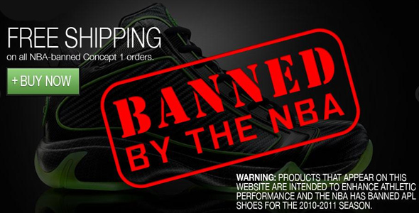 366bb17e3de1 Athletic Propulsion Labs Concept 1 Shoes Banned by NBA for ...