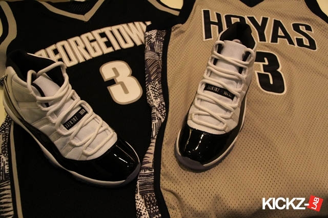 pretty nice 1a10c b9d83 Air Jordan XI 'Concord' Displayed With Allen Iverson's ...