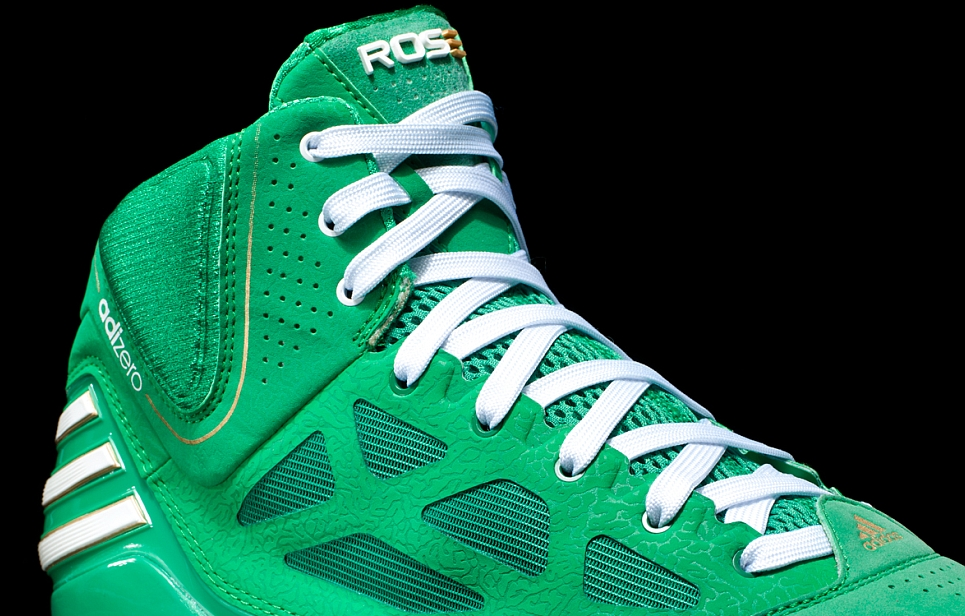 f4ec8c945e9 Light Delivers Derrick Rose green sneakers by way of adidas.