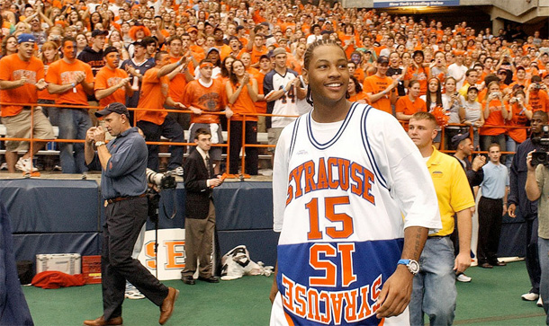 Carmelo Anthony To Have His Jersey Retire By Syracuse