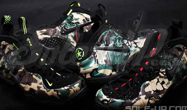 pretty nice e54b2 77340 SNEAK-A-PEEK: Nike Foamposite Pro - 'Green Camo' Different ...