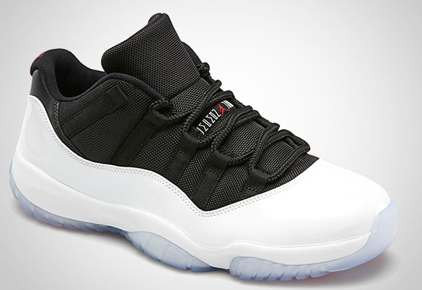 new product 77df4 a438a Air Jordan XI (11) Low –  White Black-True Red  Release Info