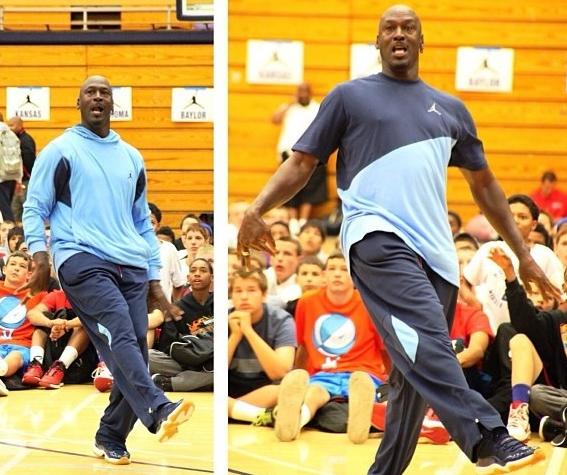 497f516a99c Michael Jordan Wears 1-of-1 Air Jordan XI Inspired By Charlotte Bobcats  Colors At Flight School Basketball Camp