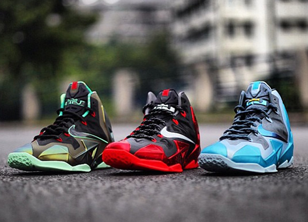 finest selection 4c619 b12ec The First Three Colorways Of The Nike LeBron XI(11)