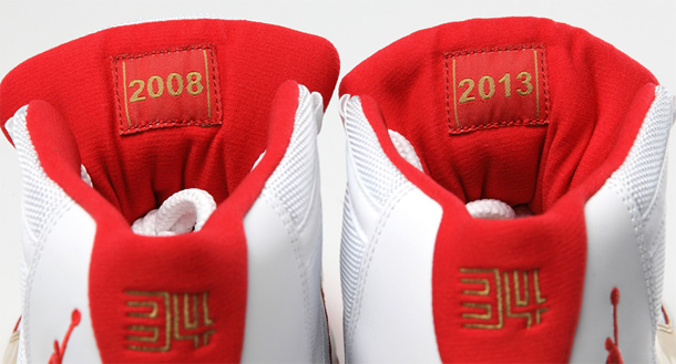 separation shoes 390b7 c062e Get a detailed look at the  Two Rings  Air Jordan XI made for Ray Allen to  wear in during the first Miami Heat game after their 2013 championship ring  ...