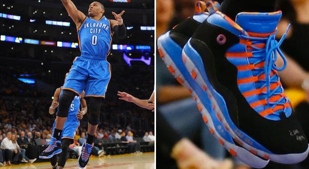 302863d15d1500 Air Jordan X (10) -  Russell Westbrook  PE Against Lakers