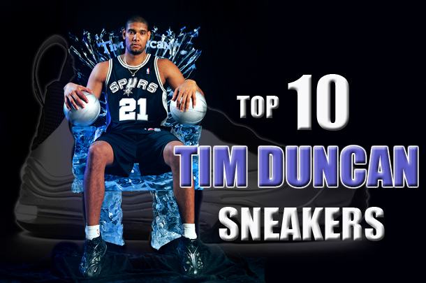 4e7fd7c0f18 Tim Duncan s Top 10 In-Game Sneakers