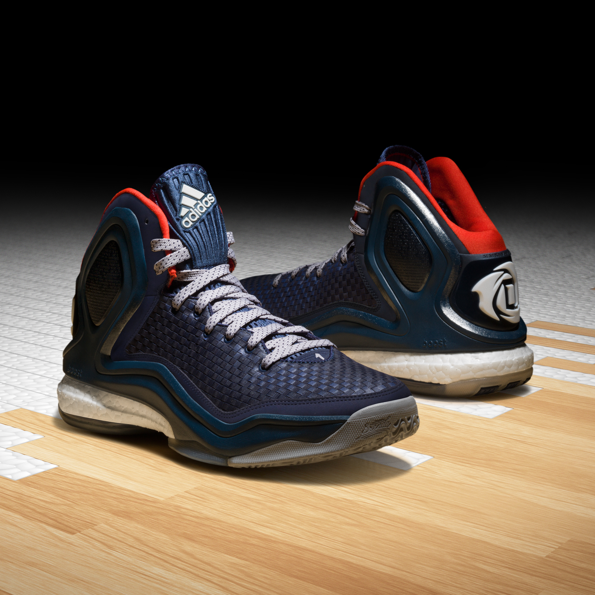 best sneakers 76c48 4a60e adidas D Rose 5, Woven Blues, C76547. ""