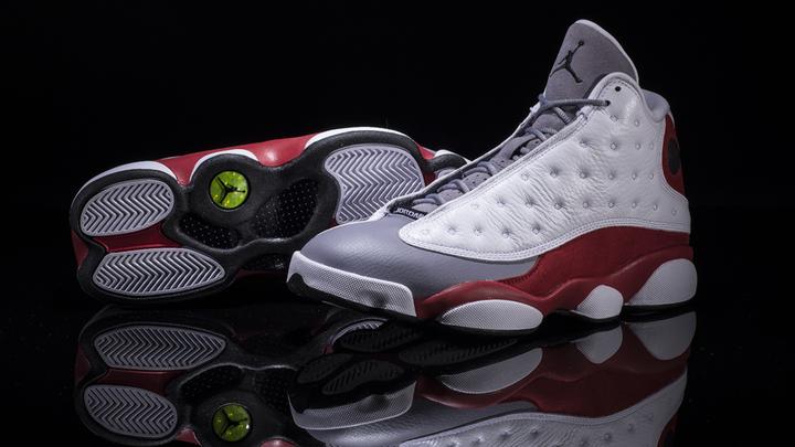 new products fe3ec bb917 Look: Air Jordan 13 'Cement Grey' Edition