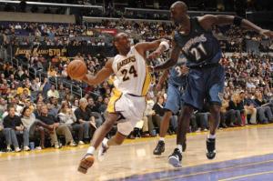 Kobe Bryant Kevin Garnett Wolves Lakers