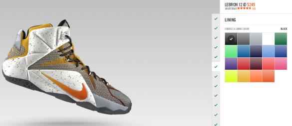 Nike iD LeBron 12