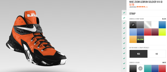 Nike iD LeBron Soldier VIII