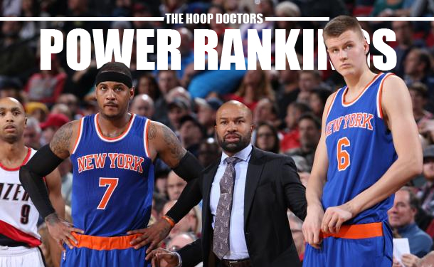 NBA Power Rankings 2016 Knicks