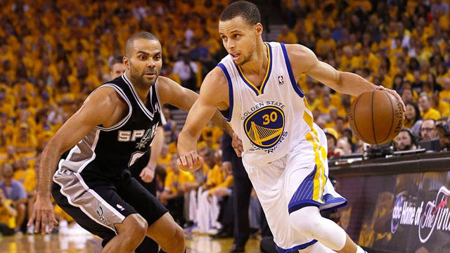 NBA Game in 3D Warriors vs Spurs