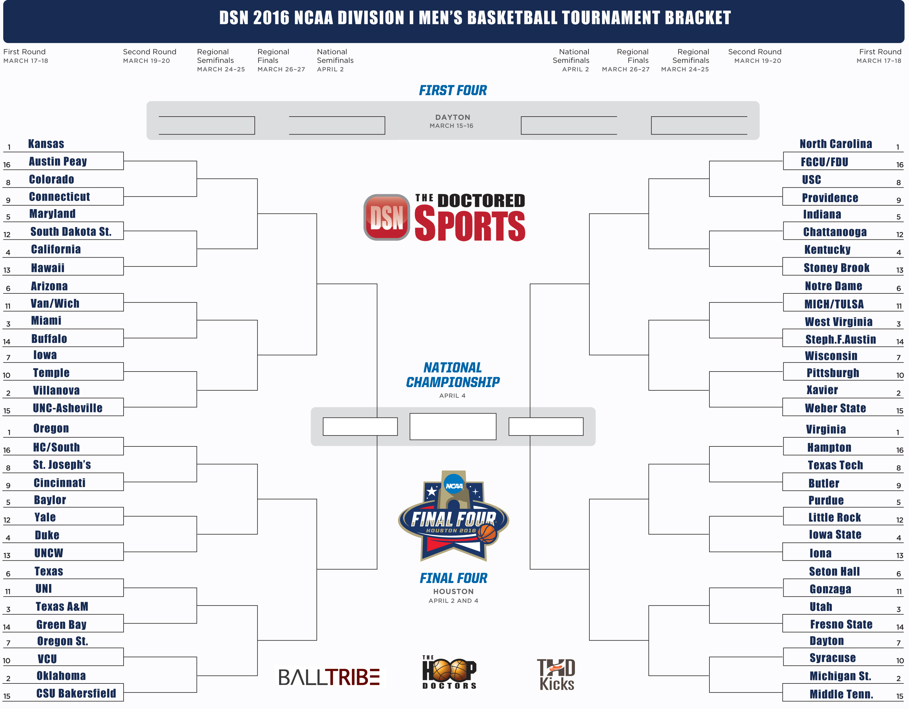 picture about Printable March Madness Bracket referred to as 2016 Printable Bracket for March Insanity With Groups