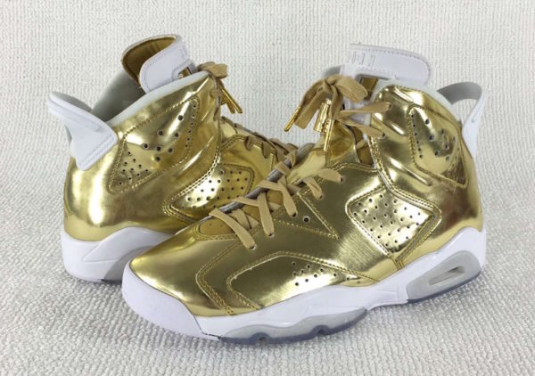 newest dd1b0 6024d Air Jordan 6 Pinnacle Metallic Gold