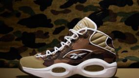 BAPE x mita sneakers x Reebok Question Mid 1st Camo