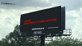Blazers Fans Put Up Billboard Asking LeBron to be Dame's 3rd Option